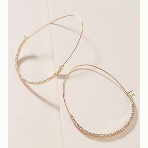 Anthro Lana Hoop Earrings